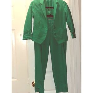 Express Women's Green Suit